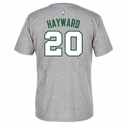 Gordon Hayward Boston Celtics Grey Name and Number T-shirt Medium