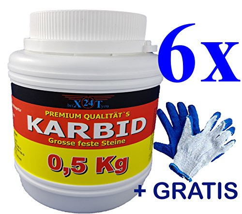 bri'X24T'you® KARBID***NEU***0.500KG bis 3,00KG+Handschuhe(1x) Premium KARBID Firma BRIN'X(Abfl.Ql.Rg.1030/110719)*Alt Bewährt und sehr Ergiebig(3,00KG)