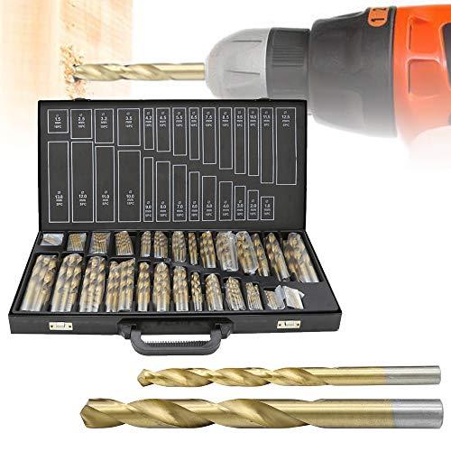 Karpal 230 Teiliges Metallbohrer Set 1-13mm Spiralbohrer Satz Titan beschichtet DIN338 Stahlbohrer HSS Spiral-Bohrer