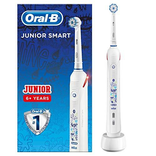 Oral-B Junior Smart Elektrische Zahnbürste mit visueller Andruckkontrolle & Smart Coaching, für Kinder ab 6Jahren