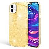 Kaliroo Brillantini Cover compatibile con iPhone 12 / iPhone 12 Pro Custodia, Glitter Case Silicone Copertura Telefono Cellulare Protezione, Strass Bumper Protettiva Bling Skin, Colore:Oro
