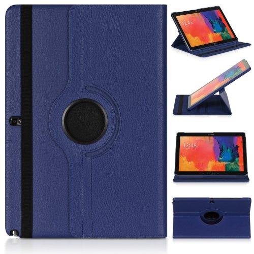 ratesell Struktur 360° Flip Hülle Tasche für Samsung Galaxy Note 12.2Pro P900/P905mit Standfunktion, Dunkelblau