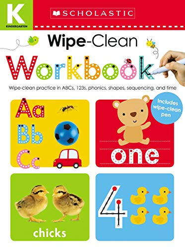 Kindergarten Wipe-Clean Workbook: Scholastic Early Learners (Wipe-Clean Workbook)