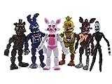 BESTZY 6pcs Five Nights at Freddy's, Five Nights At Freddy Modelo de decoración Modelo de personaje animado Regalo (3.5 pulgadas)