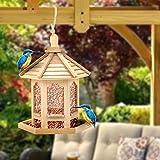LAOZI Comedero para pájaros, estación de alimentación para pájaros, casa suspendida Estación de Alimentos, Restaurante para pájaros