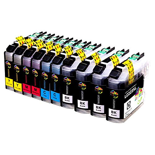 GLEGLE LC223XL Cartuchos Tinta Brother 10 Multipack Reemplazo para LC223 Compatible con Brother MFC-J5320DW J4420DW J4620DW J4625DW J480DW J5620DW J5625DW J5720DW J680DW J880DW DCP-J4120DW DCP-J562DW