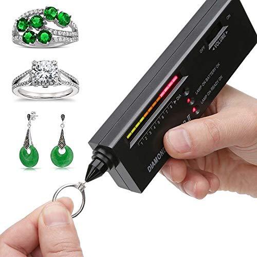 Professional Diamond Selector II, Gem Tester Pen Portable Electronic Diamond Tester Tool for Jewelry Jade Ruby Stone