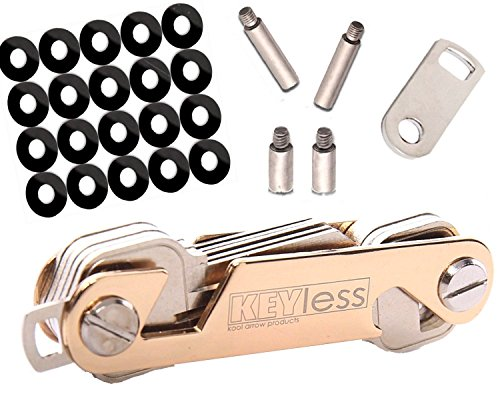 Key Holder Compact Folding Organizer for Your Keys Replace Your Bulky Keychain Ring Great Tools Has Smart Phone Stand & Has Bottle Opener Fits in Pocket Hang on Wall Extended Premium Quality Gold