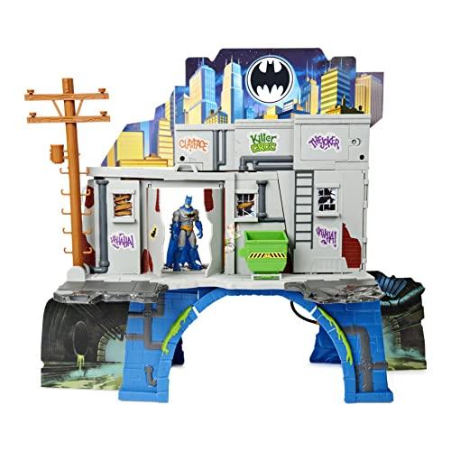 DC Comics Batman 3-in-1 Batcave Playset with Exclusive 4-inch Batman Action Figure and Battle Armor