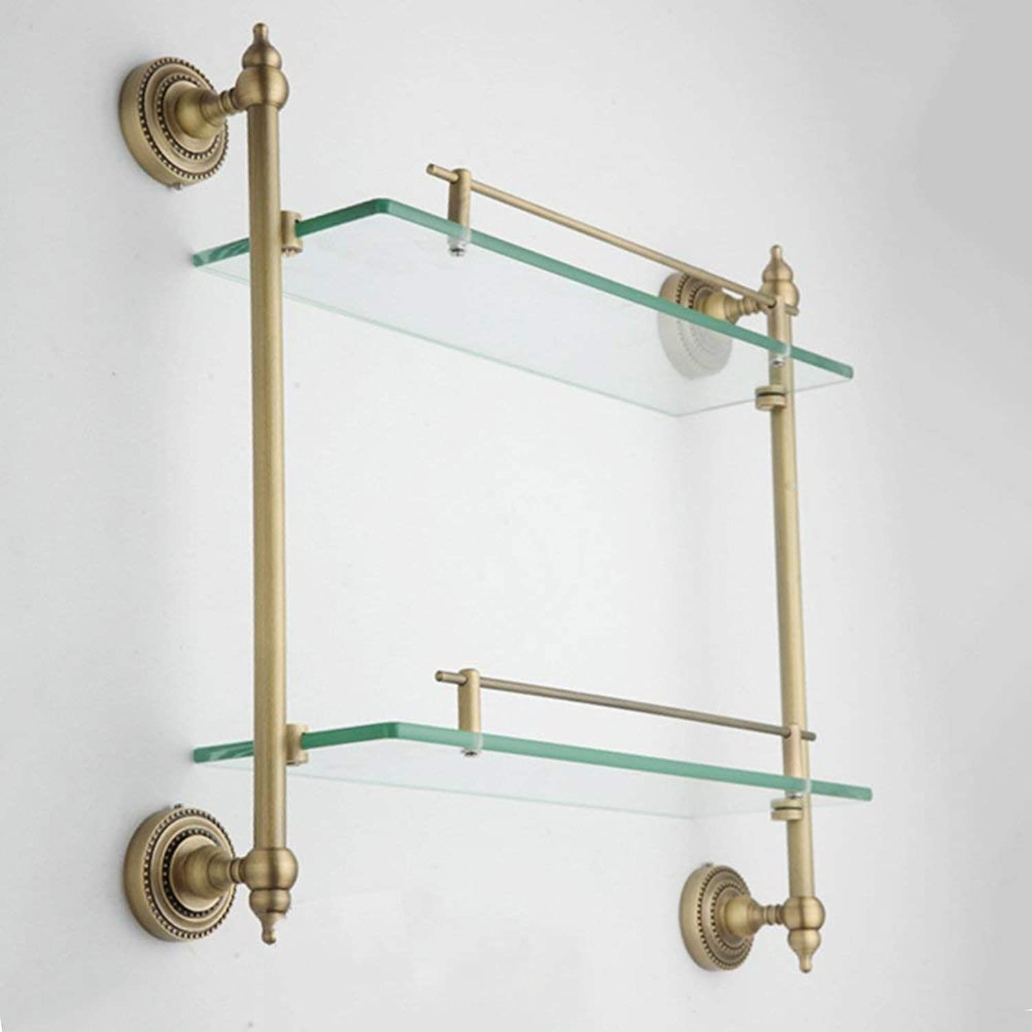 Shower Shelf Copper Glass Material 2 Layer 6mm Tempered