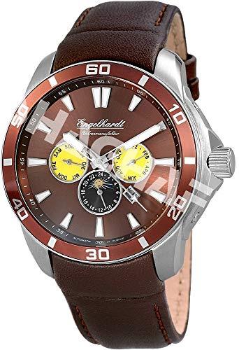 Engelhardt Herren Analog Mechanik Uhr mit Leder Armband 387727029017
