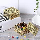 XiangXin Candy Box, contenedor de Dulces Resistente al Desgaste, tecnología de galvanoplastia de múltiples Capas, Color Brillante, día de los niños, Fiesta de recién Nacidos, nueces,(Golden)