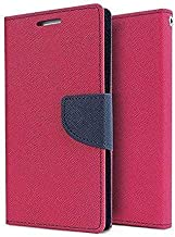 Qlez Diary Style Flip Cover with Megnatic Lock for Micromax Canvas 2 Colors A120 (Pink)