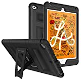 MoKo Funda Compatible con New iPad Mini 5 2019 (5th Generation 7.9 Inch)/iPad Mini 4, Plegable Silicona Durable Protector con Función de Soporte Trasera Dura Cover Case - Negro