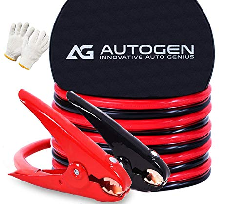AUTOGEN Heavy Duty Jumper Cables, 1 Gauge 30Ft 900AMP Battery Booster Cables with Professional Grade Clamps and Carry Bag
