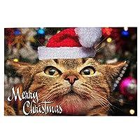 木製パズル 可愛い子猫 クリスマス ハット 1000 ピース ジグソーパズル 遊び 雰囲気 減圧 おもちゃ 漫画 壁飾り 学生 子供 大人 絵画 贈り物
