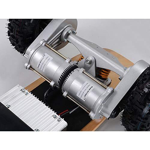 MotoTec 1600W Dirt Electric Skateboard Dual Motor , Black , Large