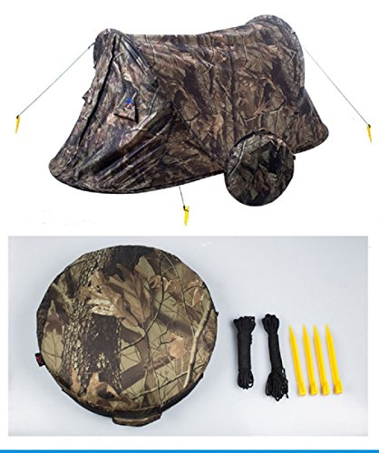 Will Outdoor 2 People Use Ultra-Light Camouflage to Automatically Pop The Tent Waterproof and UV-Proof, Easy to Carry is The Best Choice for Camping and Anglers