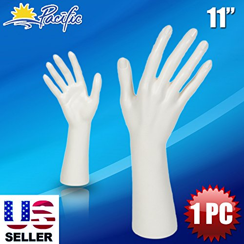 Pacific Female Mannequin Hand Display Jewelry Bracelet Ring Glove Stand Holder White