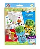 Kids Create - Cabezales de césped reciclados - Vasos para manualidades infantiles - Juego de manualidades y manualidades para niños I Kit de manualidades y diseño infantil