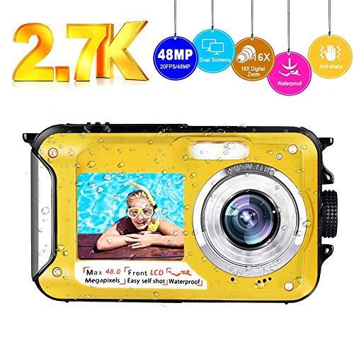 petit un compact Caméra étanche Full HD 2.7K 48MP SELPHY Dual Screen Camera…