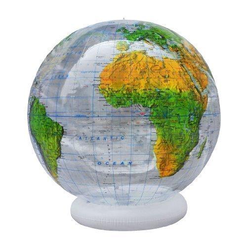 XXL transparenter topographischer Globus 92cm - englisch