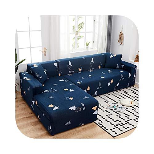 Sofa Covers - Funda de sofá esquinera, funda elástica para salón L en forma de esquina seccional, tumbona larga de 2 piezas, color 10-2-Seat y 4 plazas