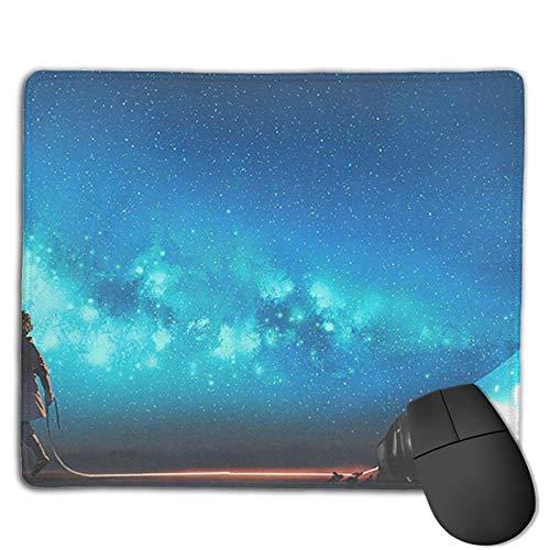 Jujupasg-Tappetino per Mouse, Tappetino per Mouse in Gomma Impermeabile Antiscivolo per Laptop-Lampadina Fantasy Galaxy Star Dust
