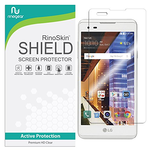 RinoGear Screen Protector for LG Tribute HD Case Friendly LG Tribute HD Screen Protector Accessory Full Coverage Clear Film