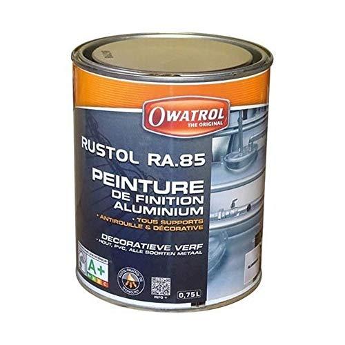 OWATROL Rustol Alu RA.85 - Peinture de Finition Aluminium Tous Supports 0,75 L