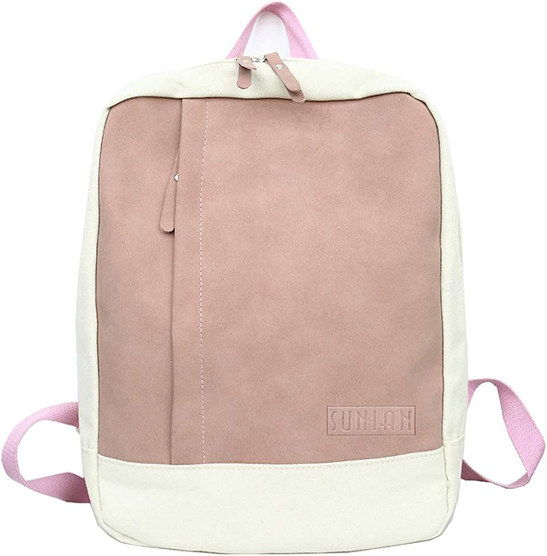 RABILTY Fashionable Large Capacity Rucksack Rucksack Look Rucksack Back High School Student School Commuter Light Weight Bag (color   Pink)