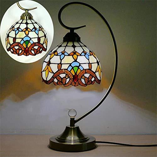 Lámparas de escritorio FHW Lámpara de Mesa de Vidrio de Color Retro Europeo lámpara de Noche lámpara de Cama Restaurante Sala de Estar de decoración lámpara de Mesa