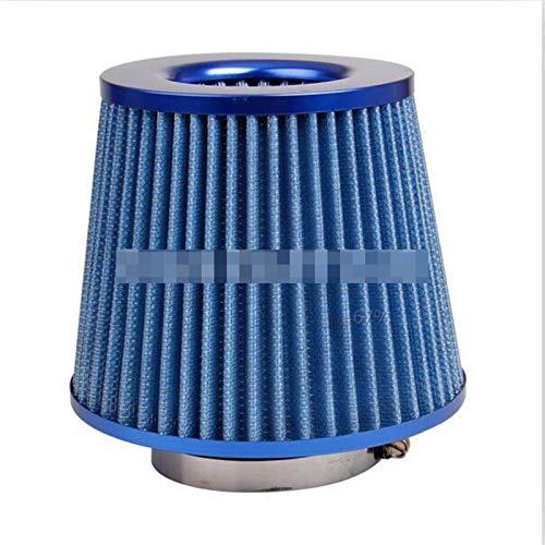 JXXDDQ Universal Car Frío Air Filtro de admisión Alumimum Kit de inducción Sistema de Manguera de tubería Filtro de Aire Azul Rojo 76mm / 3 Pulgadas Cabeza de Hongo (Size : Just Air Filter Blue)