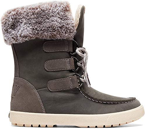 Roxy Damen Rainier - Snow Boots for Women Schneestiefel, Grau (Charcoal Chr), 38 EU