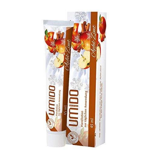 1x UMIDO Hand-Lotion 45 ml Apfel-Zimt-Extrakt | Handcreme | Creme | Pflegecreme | Lotion | Hautpflege