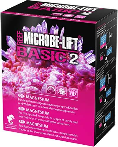 MICROBE-LIFT Basic 2 Magnesio - Magnesio de Alta pureza para Cualquier Acuario de Agua de mar, Muy Duradero, 1000 g