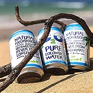C2O Pure Coconut Water, 100% All Natural Electrolyte Drink - Healthy Alternative to, Soda, Coffee, and Sports Drink - Non-GMO, Gluten Free – 10.5 Fluid Ounce (Pack of 24)