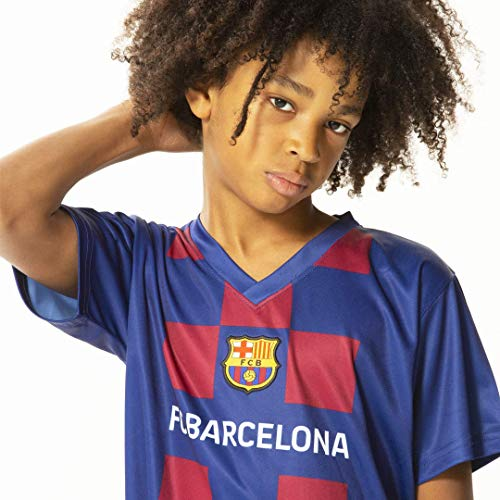 Morefootballs - Offizielles FC Barcelona Heimspiel Trikot Set Saison 19/20 Größe 164 | Vollständiges Tenue mit Barca Trikot und kurzer Hose | 100 % Polyester Fußball Shirt und Shorts im Blaugrana Look