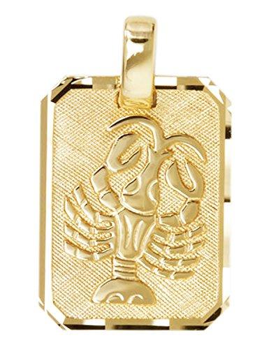 MyGold Sternzeichen Anhänger Krebs (Ohne Kette) Gelbgold 333 Gold (8 Karat) 21mm x 12mm Tierkreiszeichen Horoskop Kettenanhänger Goldanhänger Gaudino A-04400-G303-Kre