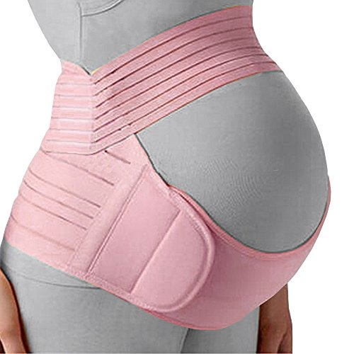Belly Band for Pregnancy, Pregnancy Belt - Maternity Belt for Back Pain. Prenatal - Pregnancy Support Belt with Adjustable/Breathable Material. Back Support for Pregnant Women. Baby Pink Color/Size M