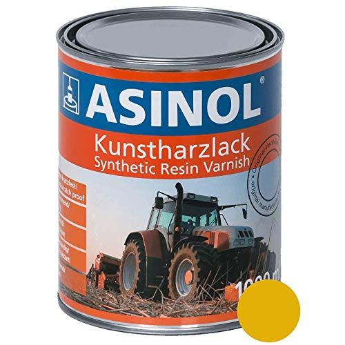ASINOL RAL 1004 GELB GELB 1.000 ml Kunstharzlack Farbe Lack 1l Liter Dose