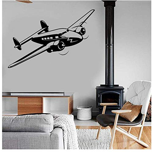 Retro Airplane Air Force Jet Muursticker Vinyl Home Decor Desgin Tienerkamer Jongens Kids Slaapkamer Leger Stickers Muralen Behang 84X57Cm