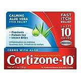 Cortizone 10 Maximum Strength Creme With Aloe, 1% Hydrocortisone Anti-Itch Creme, 1.0 Ounce