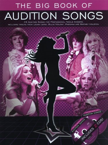 The Big Book Of Audition Songs: Female: Songbook, CD (2) für Gesang, Klavier, Gitarre