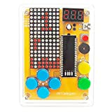 DIY Solder Project Game Kit with 5 Retro Classic Games for Electronic Soldering Practice and Learning, Comfortable Acrylic Case and Handheld Size, Ideal Gift for Family and Friends by VOGURTIME