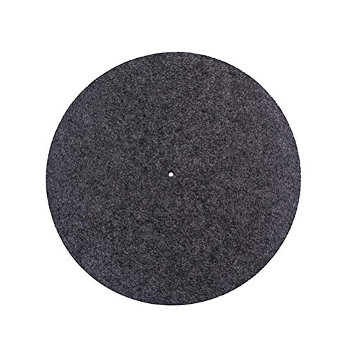 SUPVOX Plattenteller Matte Schallplattenmatte Anti Vibration Wollmatte für Schallplattenspieler (grau)