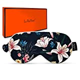 Sleep Mask with Fashion Patterns Super Smooth Eye Mask for Sleeping Blindfold Block Out Light & Relieves Dry Eyes Adjustable Hidden Strap with Removeable Gel Beads Pad for Women Men Kids - Lily