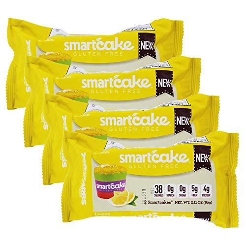Keto Cakes, Keto Cupcakes, SmartCake, 0 Carbs, Smart Baking Company, Gluten Free, Non-GMO, Low Carb (Lemon, 4 Packages)