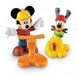 Fisher Price Mickey Mouse Clubhouse Trabajador de la construcción de Mickey y Plutón