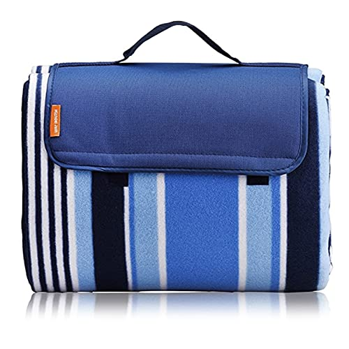 Michael Josh XXL-Large Outdoor Picnic Blanket,Waterproof Backing 200 x 200cm Oversized Soft Fleece Material Camping Tote Mat